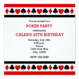 Invitaciones del fiesta del póker del casino de invitación 13,3 cm x 13,3cm