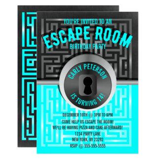 Invitaciones del fiesta del sitio del escape del