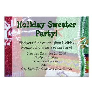 Invitaciones del fiesta del suéter del día de fies invitaciones personales