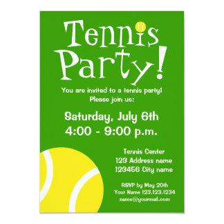 Invitaciones del fiesta del tenis para los invitación 12,7 x 17,8 cm