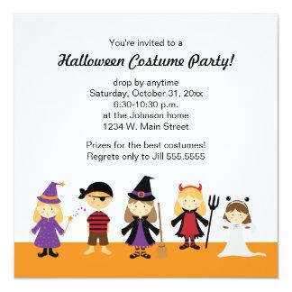 Invitaciones del fiesta del traje de Halloween Invitación 13,3 Cm X 13,3cm