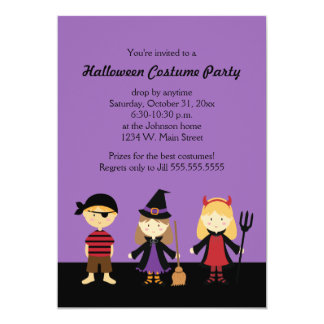 Invitaciones del fiesta del traje de Halloween Invitación 12,7 X 17,8 Cm