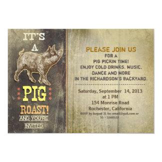 invitaciones del fiesta del vintage de la carne invitación 12,7 x 17,8 cm
