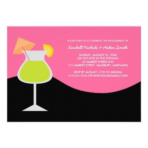 Invitaciones del fiesta o del cóctel de compromiso invitacion personalizada