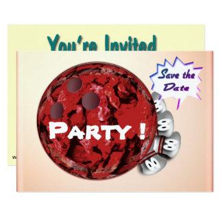 Invitaciones del fiesta que ruedan adaptables