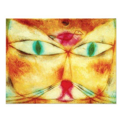 Invitaciones del gato y del pájaro de Paul Klee Comunicado