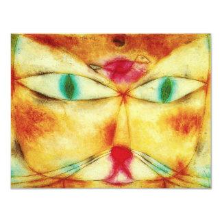 Invitaciones del gato y del pájaro de Paul Klee Invitación 10,8 X 13,9 Cm
