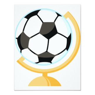 Invitaciones del globo del balón de fútbol invitación 10,8 x 13,9 cm