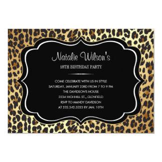 Invitaciones del leopardo del estampado de invitación 12,7 x 17,8 cm
