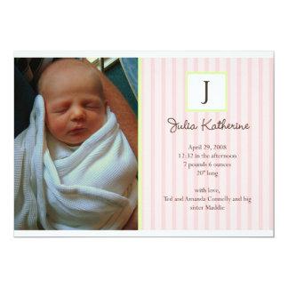 Invitaciones del nacimiento de la foto invitación 12,7 x 17,8 cm