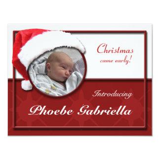 Invitaciones del nacimiento del navidad del gorra invitación 10,8 x 13,9 cm