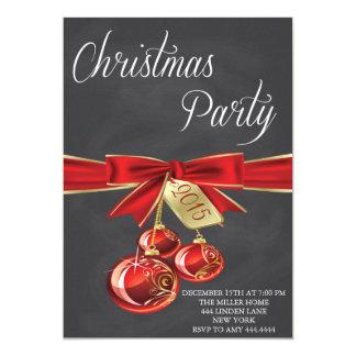 Invitaciones del ornamento de la fiesta de Navidad Invitación 12,7 X 17,8 Cm