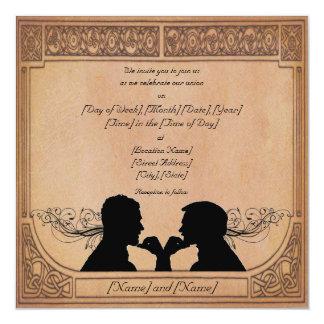 Invitaciones del personalizado de la ceremonia del invitación 13,3 cm x 13,3cm