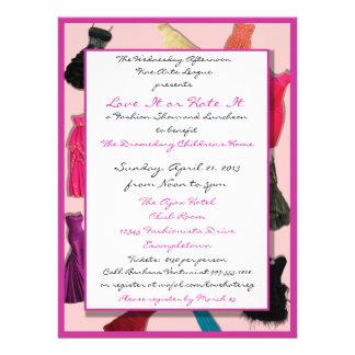 Invitaciones del personalizado del desfile de moda invitacion personal