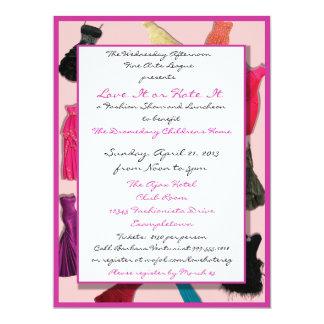 Invitaciones del personalizado del desfile de moda invitación 16,5 x 22,2 cm