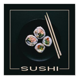 Invitaciones del personalizado del sushi