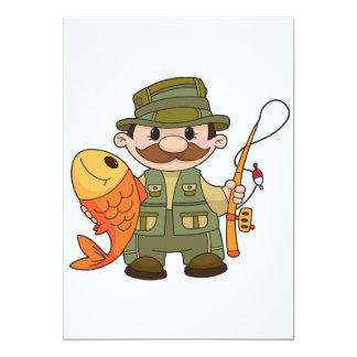 Invitaciones del pescador invitación 12,7 x 17,8 cm