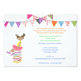 Invitaciones del preescolar o de la guardería comunicados personalizados
