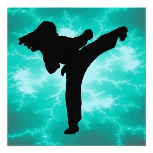 Invitaciones del relámpago de los artes marciales invitacion personal