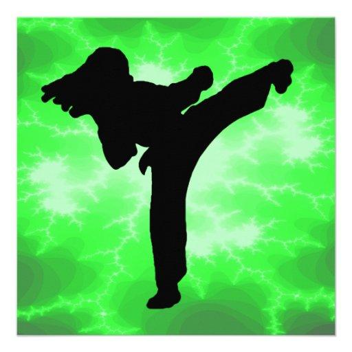 Invitaciones del relámpago de los artes marciales invitacion personalizada