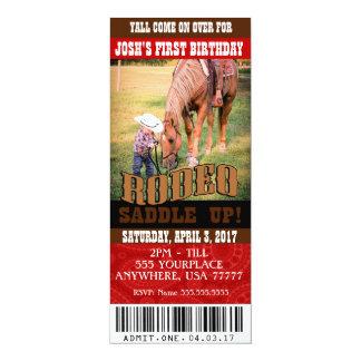 Invitaciones del rodeo del vaquero, sobres invitación 10,1 x 23,5 cm