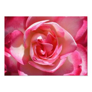 Invitaciones del rosa rosado y blanco invitación 12,7 x 17,8 cm