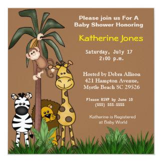 Invitaciones del safari de selva invitación 13,3 cm x 13,3cm