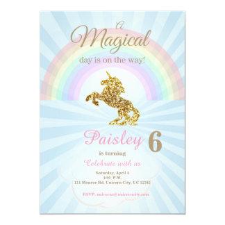 Invitaciones del unicornio invitación 12,7 x 17,8 cm