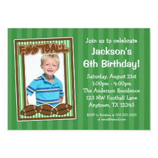 Invitaciones del verde de la fiesta de cumpleaños invitación 12,7 x 17,8 cm