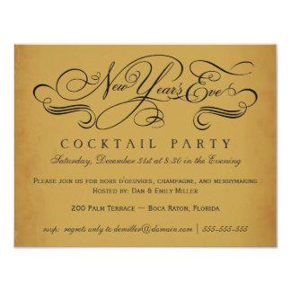 Invitaciones del vintage del cóctel de Noche Vieja Invitación 10,8 X 13,9 Cm
