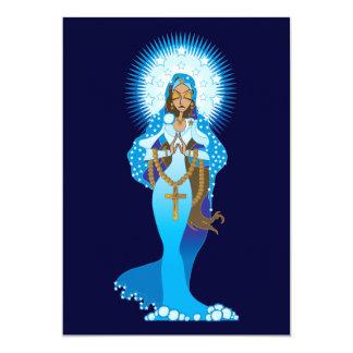 Invitaciones del Virgen María Invitación 12,7 X 17,8 Cm