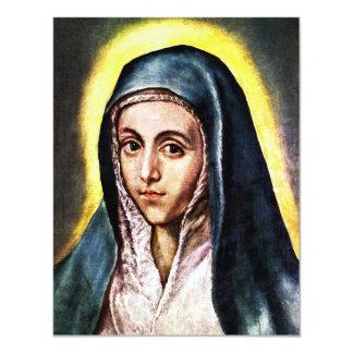 Invitaciones del Virgen María de El Greco Invitación 10,8 X 13,9 Cm