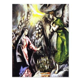 Invitaciones del Virgen María del anuncio de El Invitación 10,8 X 13,9 Cm