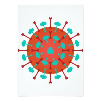 Invitaciones del virus de la gripe invitación 12,7 x 17,8 cm
