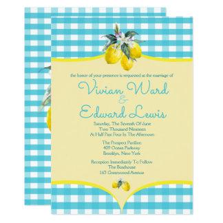 Invitaciones deliciosas del boda del limón invitación 12,7 x 17,8 cm