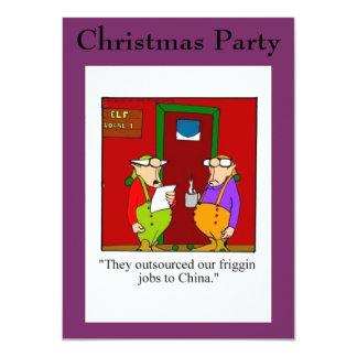 Invitaciones divertidas de la fiesta de Navidad Invitación 11,4 X 15,8 Cm
