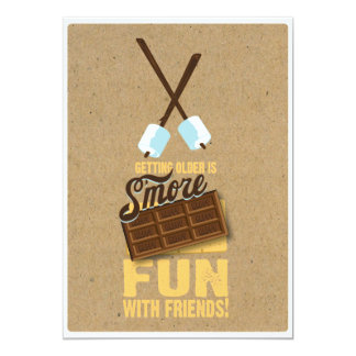 Invitaciones dulces de Smores de la hoguera del Invitación 12,7 X 17,8 Cm