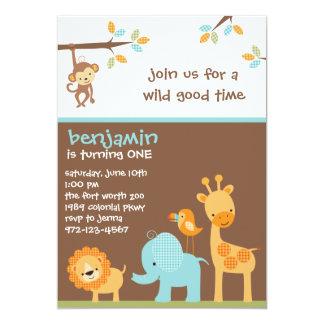 Invitaciones dulces del safari invitación 12,7 x 17,8 cm