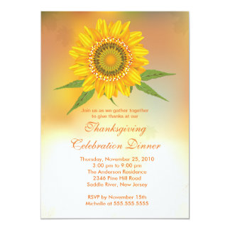 Invitaciones elegantes de la acción de gracias del invitación 12,7 x 17,8 cm