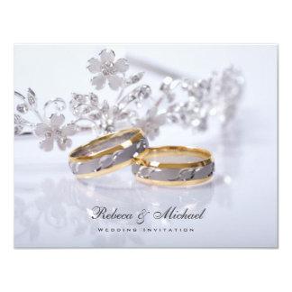 Invitaciones elegantes de la alianza de boda invitación 10,8 x 13,9 cm