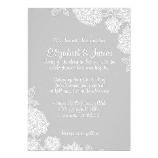 Invitaciones elegantes de la bodas de plata