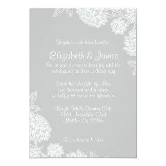 Invitaciones elegantes de la bodas de plata invitación 12,7 x 17,8 cm