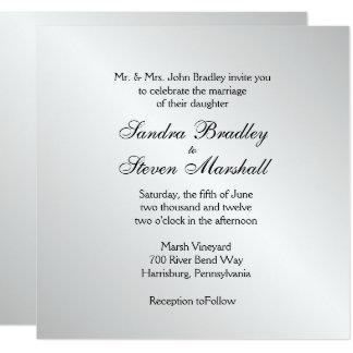 Invitaciones elegantes de la bodas de plata invitación 13,3 cm x 13,3cm