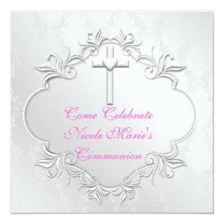 Invitaciones ELEGANTES de la COMUNIÓN de los Invitación 13,3 Cm X 13,3cm