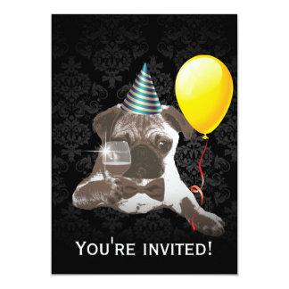 Invitaciones elegantes de la fiesta de cumpleaños anuncio personalizado