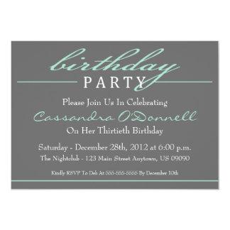 Invitaciones elegantes de la fiesta de cumpleaños invitaciones