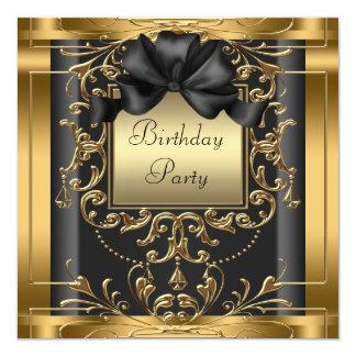 Invitaciones elegantes de la fiesta de cumpleaños invitación 13,3 cm x 13,3cm