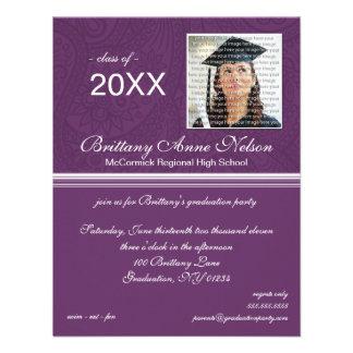 Invitaciones elegantes de la fiesta de graduación anuncios personalizados