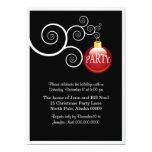 Invitaciones elegantes de la fiesta de Navidad del Invitación 12,7 X 17,8 Cm