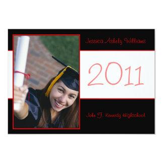 Invitaciones elegantes de la graduación invitación 12,7 x 17,8 cm